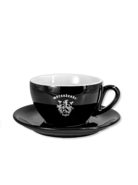 Machhörndl Latte Art Tasse schwarz