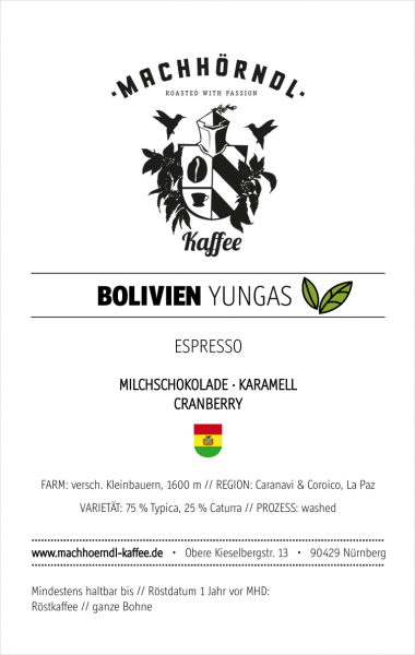 BOLIVIEN Yungas - unverpackt